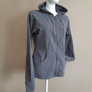 Danskin   hi/lo grey zip scuba running hoodie